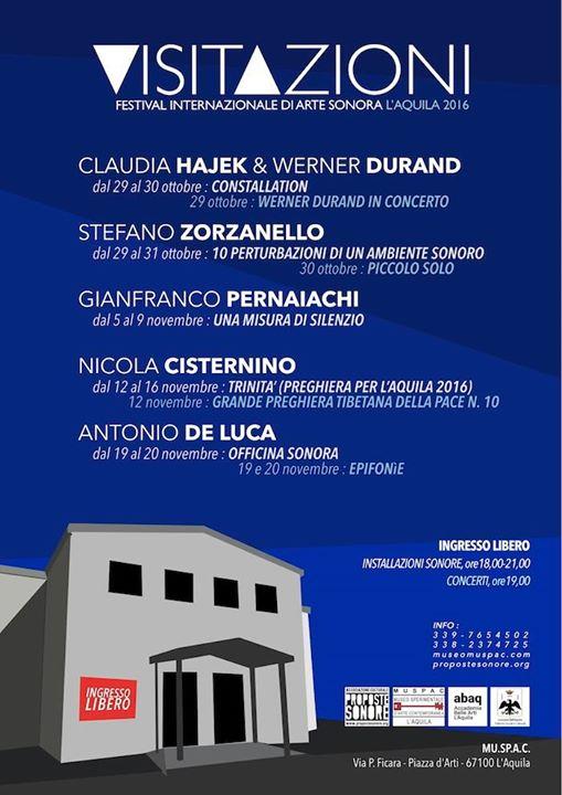 Visitazioni. Festival Internazionale di Arte Sonora